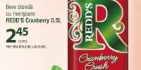 Redd's Cranberry bere blonda cu merisoare