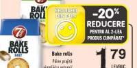 Bake Rolls paine prajita simpla/cu usturoi/ cu pizza