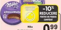 Milka napolitana glazurata crema de cacao/alun