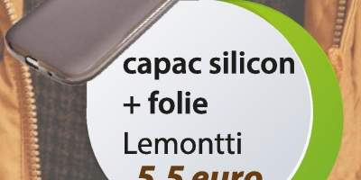 Capac silicon+folie Lemontti