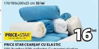 Price Star cearsaf cu elastic
