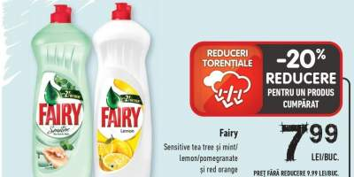 Fairy Sensitive Tea tree si mint/ lemon/ pomegranate si red orange