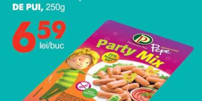 Pepe Party Mix mini crenvursti de pui
