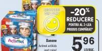 Danone Actimel actikids iaurt caise/ capsuni & banane