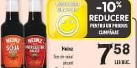 Heinz sos de soia/ picant Worchester
