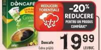 Doncafe cafea prajita cu extract de cafea verde