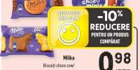Milka biscuiti choco cow/ cocolate grains/ chocominis