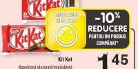 Kit Kat napolitana glazura/ minitableta ciocolata neagra/ alba