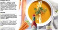Supa de morcovi cu lapte de cocos