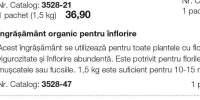 Ingrasamant organic pentru inflorire