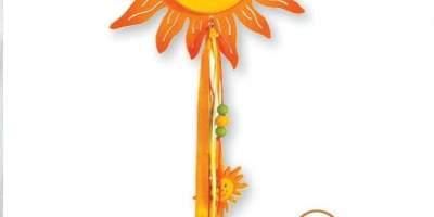 Decoratiune cu floarea-soarelui din lemn