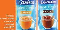 Casino crema desert cu aroma caramel, ciocolata