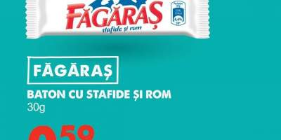 Fagaras baton cu stafide si rom