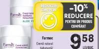 Farmec crema natural hidratanta/antirid