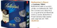 Whisky Ballantine's finest + 2 pahare