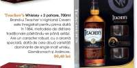 Whiskey Teacher's + 2 pahare
