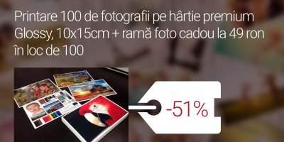 Printare 100 de fotografii pe hartie premium Glossy 10x15 centimetri