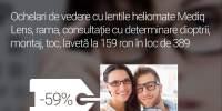 Ochelari de vedere cu lentile heliomate Mediq Lens