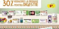 30% reducere la produse pentru digestie