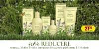50% reducere pentru al doilea produs cumparat din camele parfumate L'Erbolario