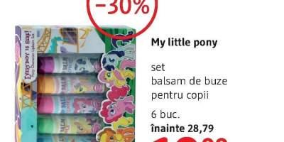 My Little Pony set balsam de buze pentru copii