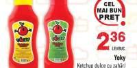 Yoky ketchup dulce cu zahar/ iute cu zahar