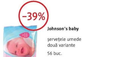 Johnson's Baby servetele umede