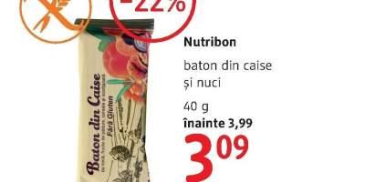 Nutribon baton din caise si nuci