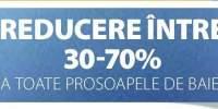 Reducere intre 30-70% la toate prosoapele de baie