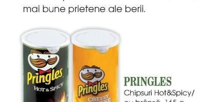Pringles chipsuri Hot&Spicy cu branza