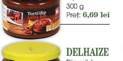 Dip hot/ mild/ cu gust de branza Delhaize