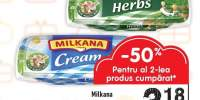 Milkana branza topita tartinabila cu smantana / verde/ Go