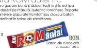 Baton de ciocolata autentic Rom
