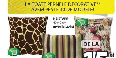 Perne decorative cu 30-70% reducere