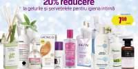 20% reducere la gelurile si servetelele pentru igiena intima