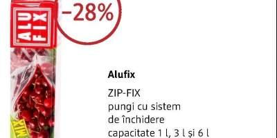 Pungi cu sistem de inchidere Zip Fix Alufix