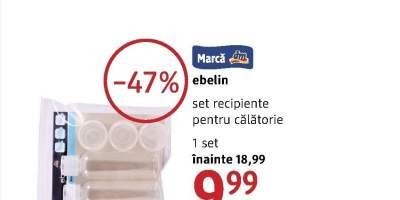 Set recipiente pentru calatorie Ebelin