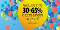 Reducere intre 30-65% la toate saltelele cu spuma
