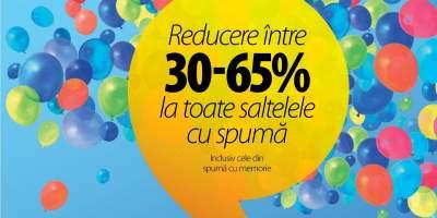 Reducere intre 30 - 65% la toate saltelele cu spuma