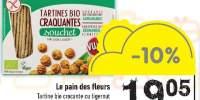 Tartine bio crocante cu tigernuts Le Pain des fleurs