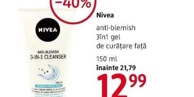 3 in 1 gel de curatare fata Nivea
