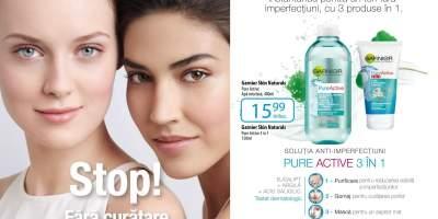 Pachet Garnier Skin Naturals Pure Active 3 in 1
