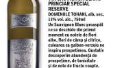 Vin Sauvignon Blanc Princiar special Reserve Domeniile Tohani alb, sec