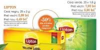 Ceai negru/ verde Lipton