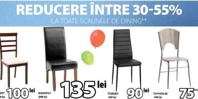 Reducere intre 30-55% la toate scaunele de dining