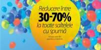 Reducere intre 30-70% la toate saltelele cu spuma
