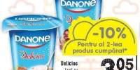 Iaurt cu capasuni/ visine Danone Delicios