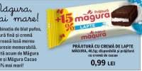 Prajitura cu crema de lapte/cacao Magura