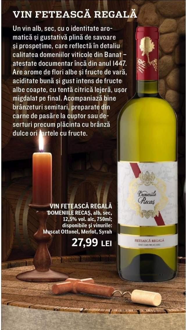 Vin Feteasca Regala Domeniile Recas alb, sec