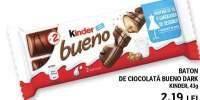 Baton ciocolata Kinder Bueno Dark